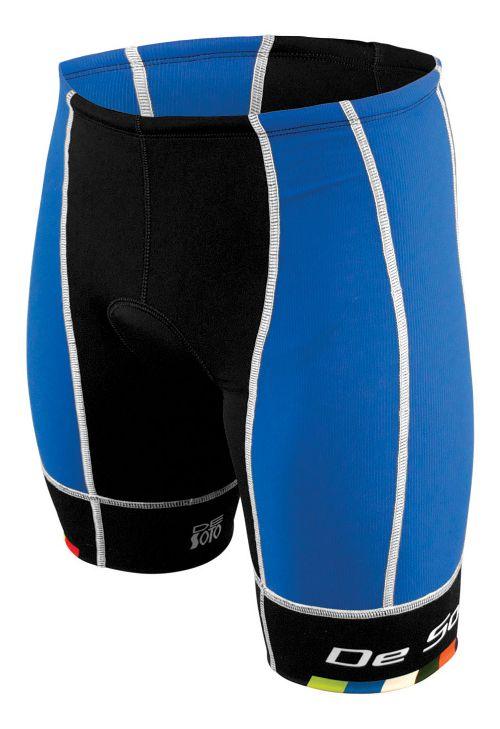 Mens De Soto Forza Tri Cycling Shorts - Royal/Black M