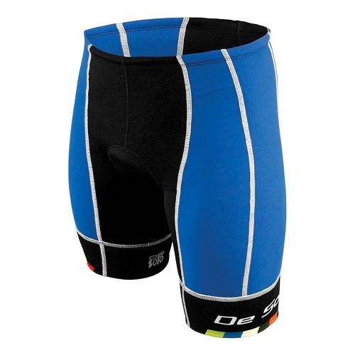 Mens De Soto Forza Tri Cycling Shorts - Royal/Black L