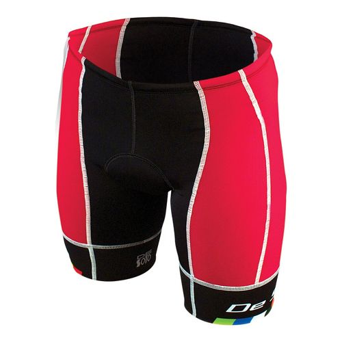 Mens De Soto Forza Tri Cycling Shorts - Red/Black M