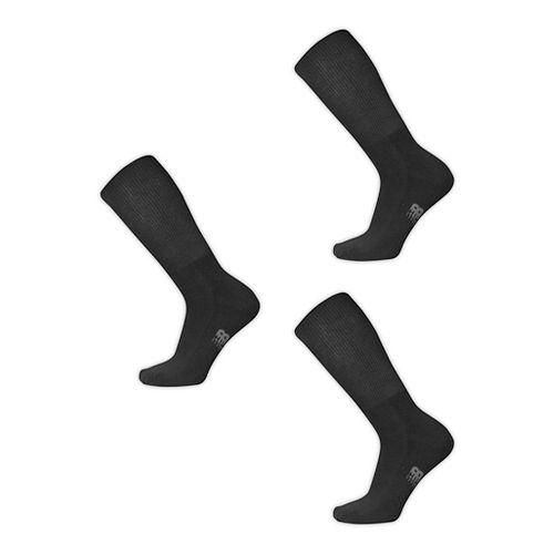 New Balance Wellness Crew 3 Pack Socks - Black L