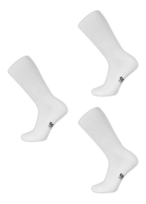 New Balance Wellness Crew 3 Pack Socks - White M