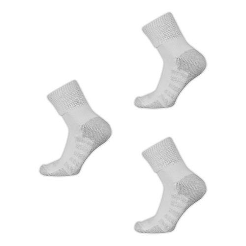 New Balance Wellness X-Wide High Density Quarter 3 Pack Socks - White XL