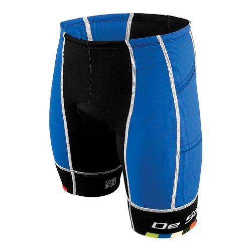 Mens De Soto Forza Tri 4-Pockets Cycling Shorts - Royal/Black M