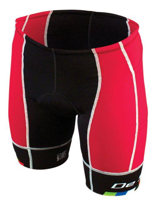 Mens De Soto Forza Tri 4-Pockets Cycling Shorts - Red/Black L