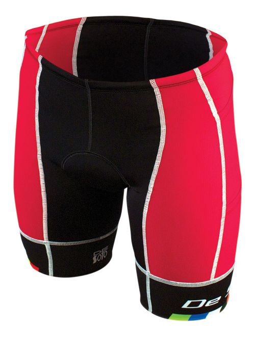 Mens De Soto Forza Tri 4-Pockets Cycling Shorts - Red/Black XL