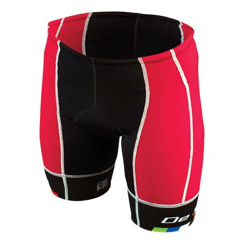 Mens De Soto Forza Tri 4-Pockets Cycling Shorts - Red/Black M
