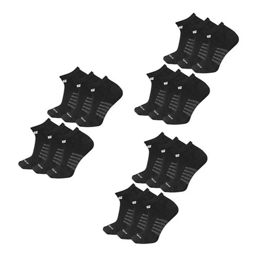 Womens New Balance Core Low Cut 18 Pack Socks - Black L