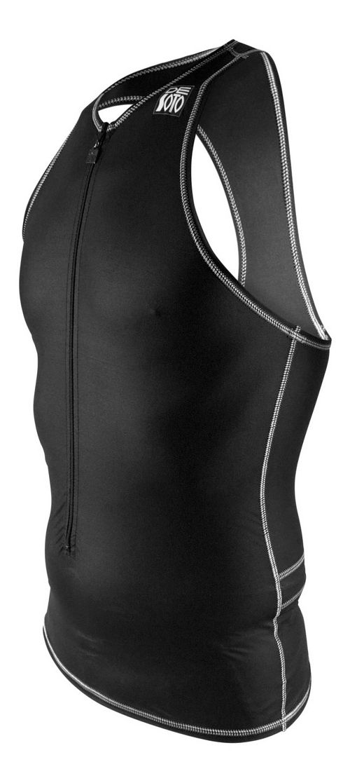 Mens De Soto Liftfoil3 Swim Skin Sleeveless & Tank Tops Technical Tops - Black XL