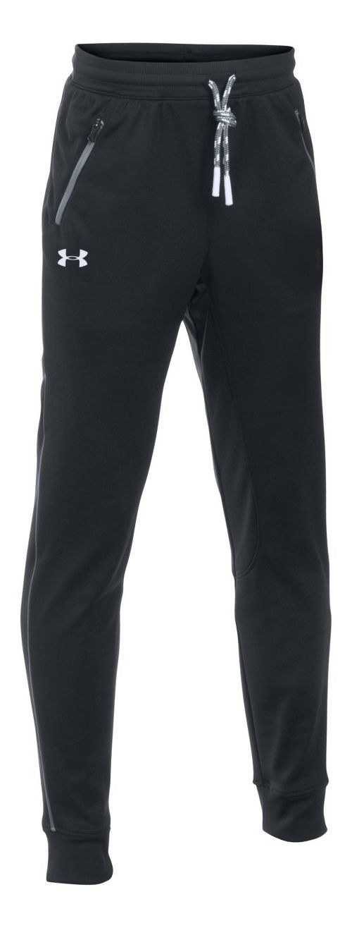 Under Armour Boys Pennant Tapered Pants - Black YXL