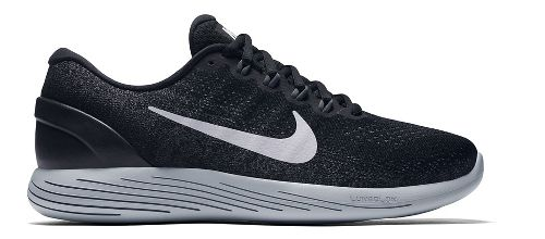 Mens Nike LunarGlide 9 Running Shoe - Black/White 12