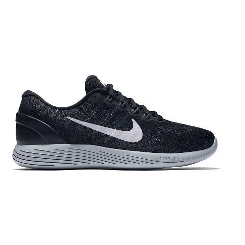 Mens Nike LunarGlide 9 Running Shoe - Black/White 11