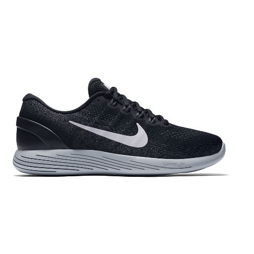 Mens Nike LunarGlide 9 Running Shoe - Black/White 11.5