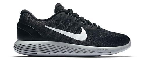 Womens Nike LunarGlide 9 Running Shoe - Black/White 8