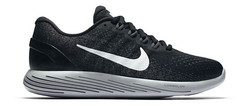 Womens Nike LunarGlide 9 Running Shoe - Black/White 8.5