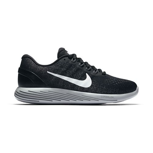 Womens Nike LunarGlide 9 Running Shoe - Black/White 8