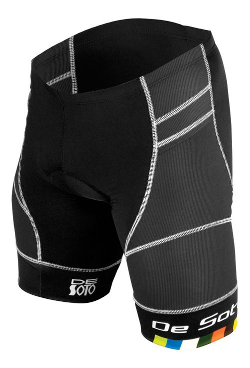 Mens De Soto Riviera Tri Cycling Shorts - Black L