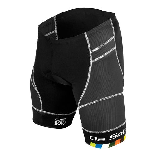 Mens De Soto Riviera Tri Cycling Shorts - Black S