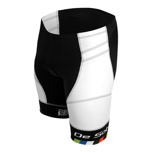 Mens De Soto Riviera Tri Cycling Shorts - White S