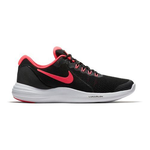 Kids Nike Lunar Apparent Running Shoe - Black/Pink 4.5Y