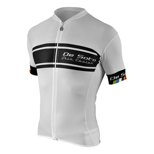 Mens De Soto Skin Cooler Full Zip Tri Top - Sleeved Short Sleeve Technical Tops ...