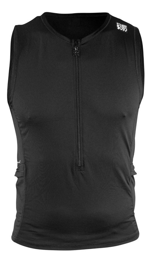 Mens De Soto Skin Cooler Half Tri Sleeveless & Tank Tops Technical Tops - Black L