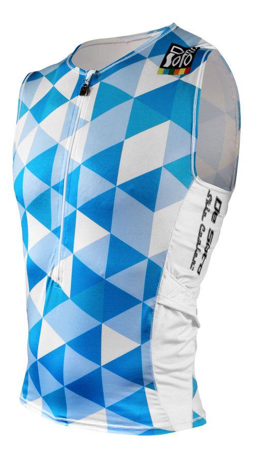 Mens De Soto Skin Cooler Half Tri Sleeveless & Tank Technical Tops - Blue Hive S
