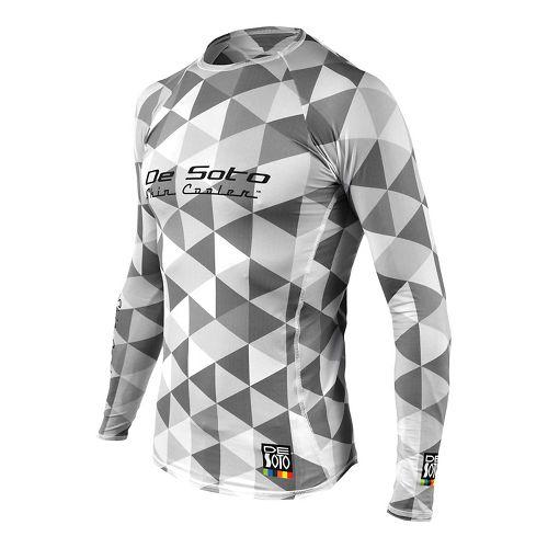 Mens De Soto Skin Cooler Long Sleeve Technical Tops - Grey Hive L