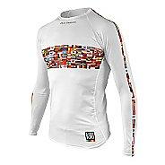Mens De Soto Skin Cooler Long Sleeve Technical Tops - Flag Print M