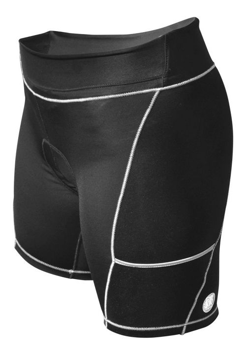 Womens De Soto 400-Mile Cycling Shorts - Black/Metallic XXL
