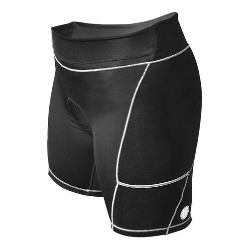 Womens De Soto 400-Mile Cycling Shorts - Black/Metallic M