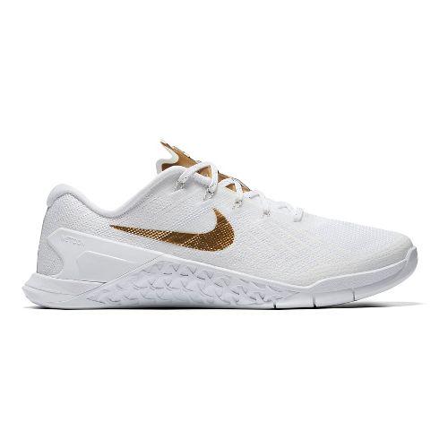 Womens Nike Metcon 3 AMP Cross Training Shoe - White/Metallic 7.5
