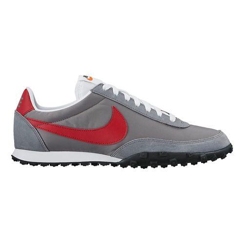 Mens Nike Waffle Racer Casual Shoe - Grey/Red 10.5