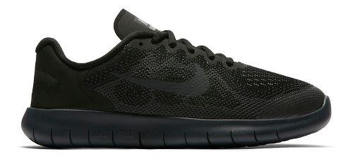 Kids Nike Free RN 2017 Running Shoe - Black/Black 3.5Y