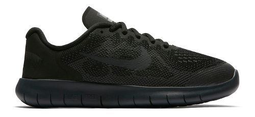 Kids Nike Free RN 2017 Running Shoe - Black/Black 6.5Y