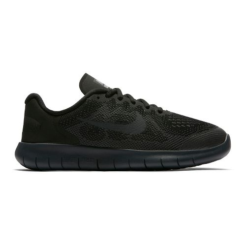 Kids Nike Free RN 2017 Running Shoe - Black/Black 4.5Y
