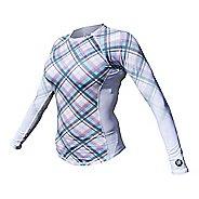 Womens De Soto Skin Cooler Long Sleeve Technical Tops - Malibu Plaid M