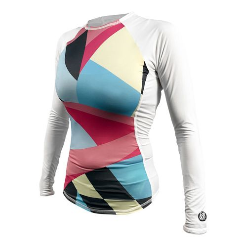 Womens De Soto Skin Cooler Long Sleeve Technical Tops - Color Block M