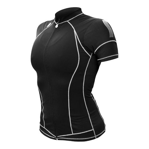 Womens De Soto Skin Cooler Tri Short Sleeve Technical Tops - Black S