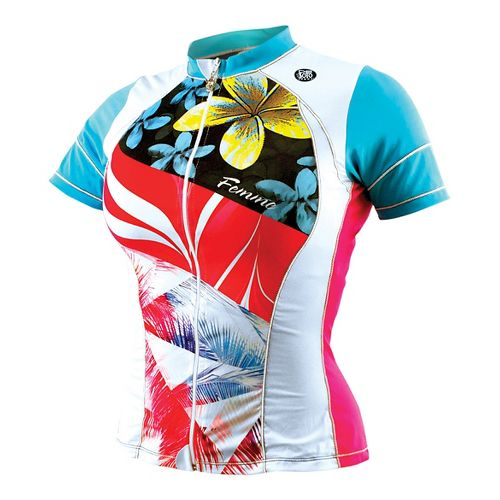 Womens De Soto Skin Cooler Tri Short Sleeve Technical Tops - Multi Flow Print L ...