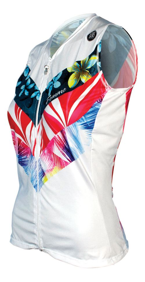 Womens De Soto Skin Cooler Tri Top - Sleeveless & Tank Tops Technical Tops - Multi Flow Print XS