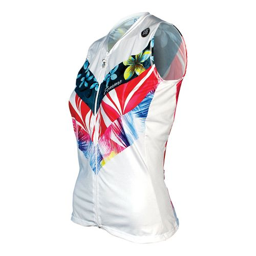 Womens De Soto Skin Cooler Tri Top - Sleeveless & Tank Tops Technical Tops - Multi Flow Print XS