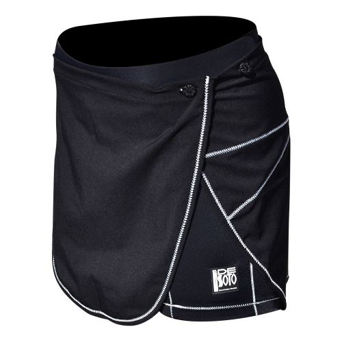 Womens De Soto Carrera Tri With Removable Wrap Skirt Unlined Shorts - Black XL