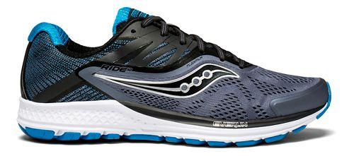 Mens Saucony Ride 10 Running Shoe - Grey/Blue 12