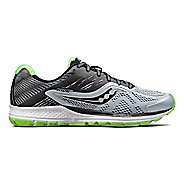 Mens Saucony Ride 10 Running Shoe - Grey/Lime 7
