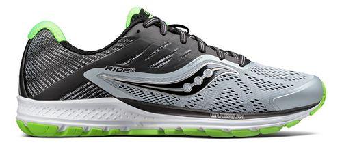 Mens Saucony Ride 10 Running Shoe - Grey/Blue 11