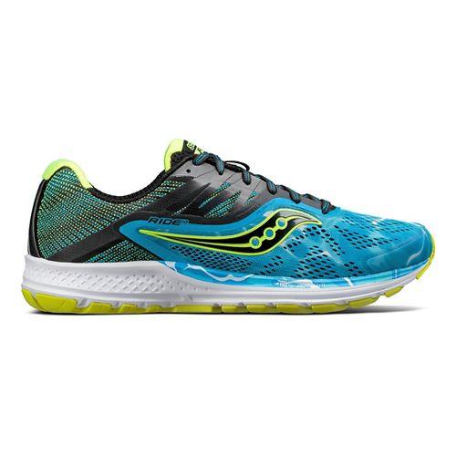 Mens Saucony Ride 10 Running Shoe - Ocean Wave 11