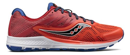 Mens Saucony Ride 10 Running Shoe - Orange/Navy 8