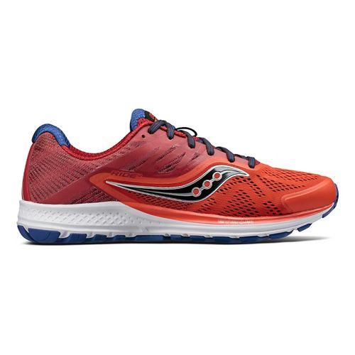 Mens Saucony Ride 10 Running Shoe - Orange/Navy 9.5