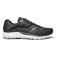 Womens Saucony Ride 10 Running Shoe - Grey/Pink 11.5