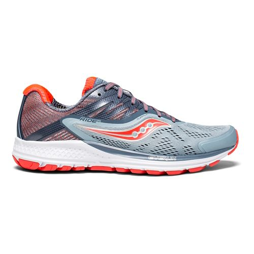 Womens Saucony Ride 10 Running Shoe - Fog 8